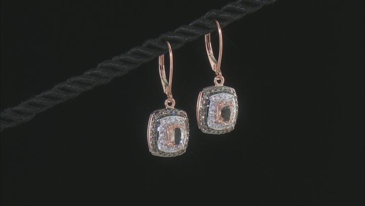 Pink Cor-de-Rosa Morganite™ 10k Rose Gold Earrings 1.11ctw
