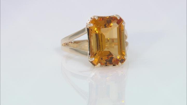 Golden Citrine 10k Yellow Gold Ring