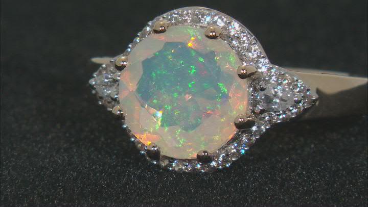 Multicolor Ethiopian Opal 10k Yellow Gold Ring 2.12ctw