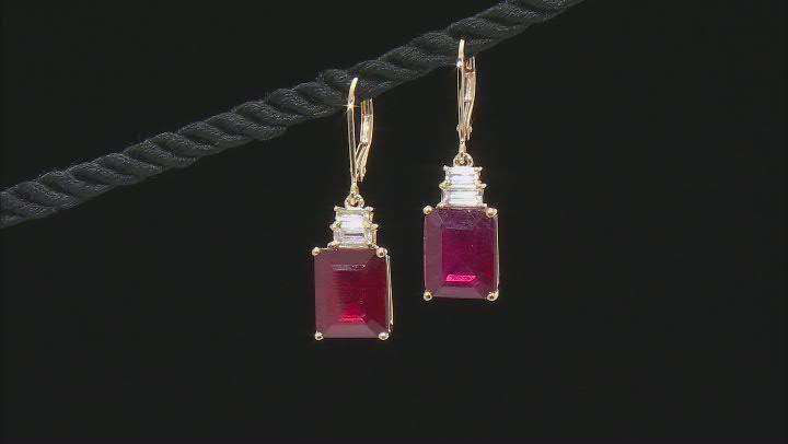 Red Mahaleo® Ruby 10k Yellow Gold Earrings 14.73