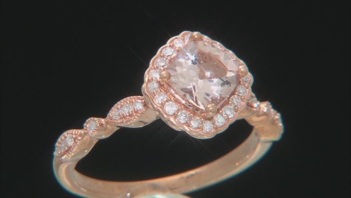 Pink Cushion Cor-de-Rosa Morganite™ 10k Rose Gold Ring 0.98ctw