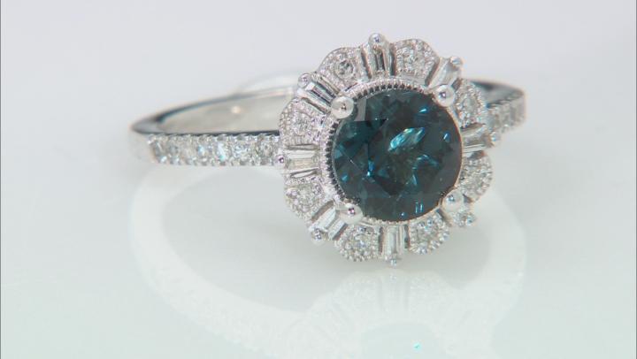 London Blue Topaz  Rhodium Over 10k White Gold Ring 1.53ctw