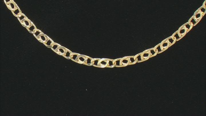 10K Yellow Gold 2.5MM Flat Birdeye Chain 20 Inch Necklace