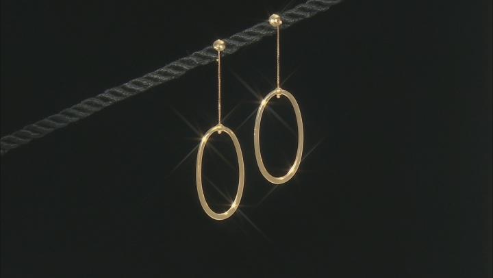 10K Yellow Gold 53.3MM Oval Drop Earrings
