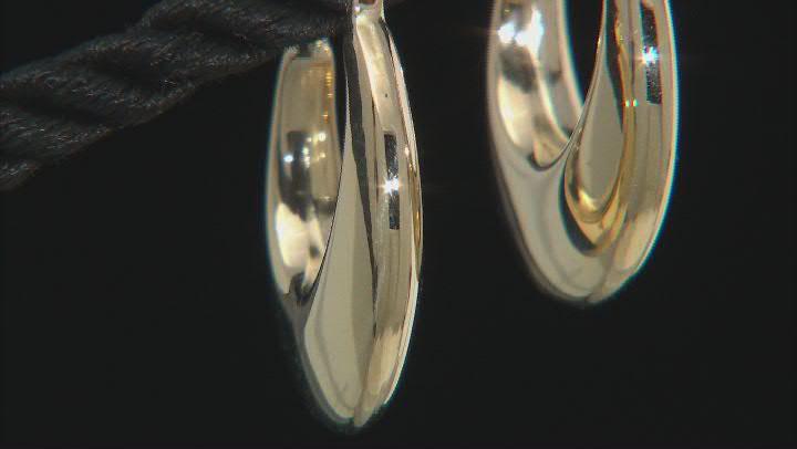 14K Yellow Gold Stampato Hoop Earrings