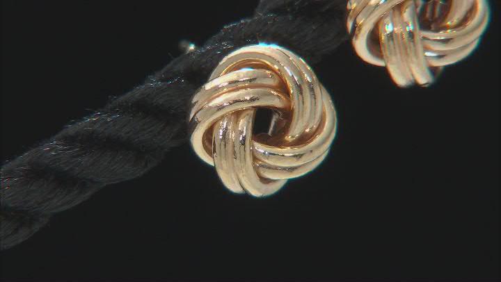 14K Yellow Gold 8.5MM Love Knot Earrings
