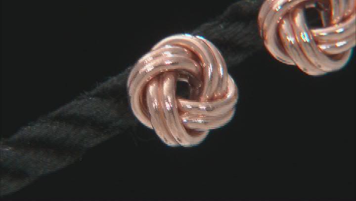 14K Rose Gold 8.5MM Love Knot Earrings