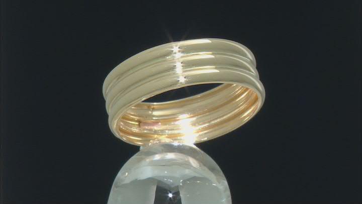 10K Yellow Gold Multi-Row Band Ring
