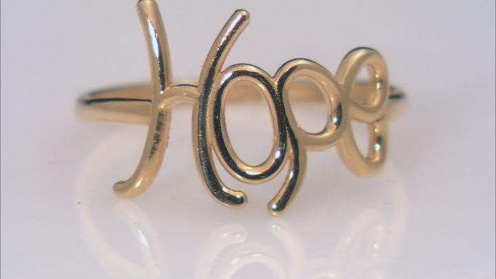 10K Yellow Gold HOPE Script Ring
