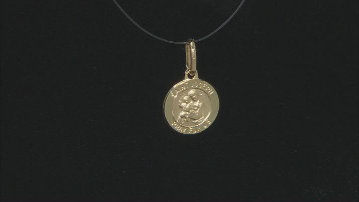 10K Yellow Gold Saint Joseph Medal Pendant