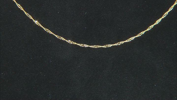 10K Yellow Gold Diamond-Cut 0.95MM Singapore 18 Inch Chain