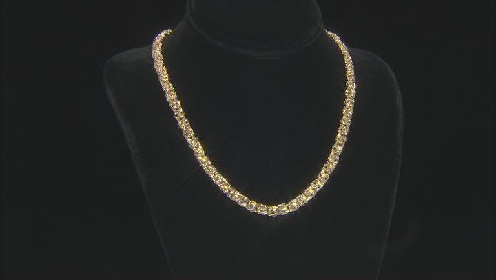 10K Yellow Gold 7MM Byzantine Chain