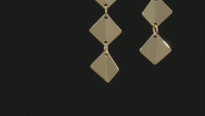 10K Yellow Gold Marquise Drop Dangle Earrings
