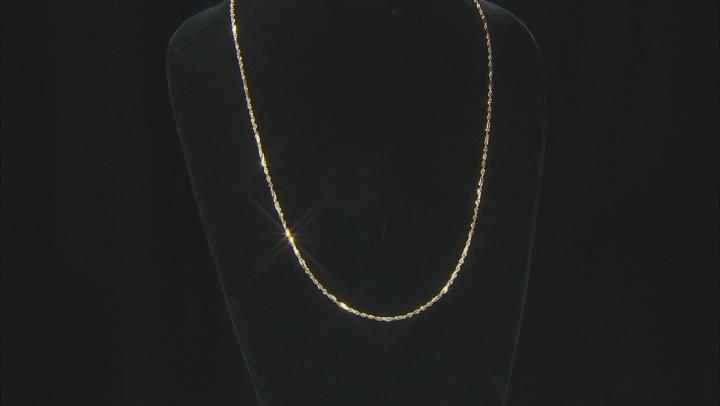 "10k Yg Hollow Designer 24"" Chain Necklace"