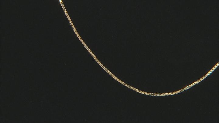 10k Yellow Gold Designer Box 20 inch Chain Necklace