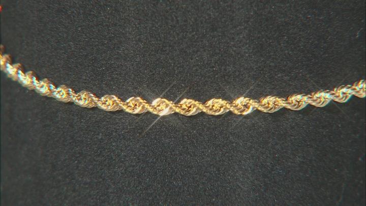 10k Yellow Gold 2.12mm Silk Rope 7 1/2 inch bracelet