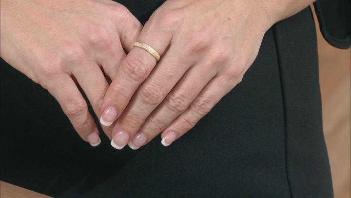 14k Yellow Gold Diamond Cut Comfort Fit Band Ring