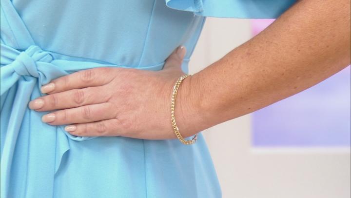 10k Yellow Gold Diamond Cut Curb 7 1/2 inch Bracelet
