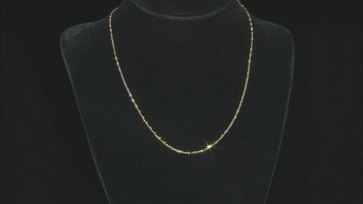 10K Yellow Gold .5MM Baby Porofino Designer Necklace 18 Inch