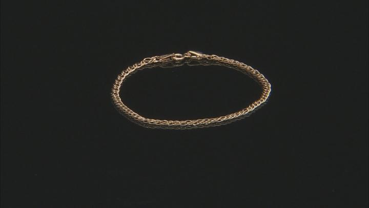 10K Yellow Gold Diamond Cut Link Bracelet 7.5 Inch