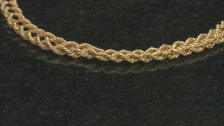 10k Yellow Gold Designer Rope 7.25 inch Bracelet