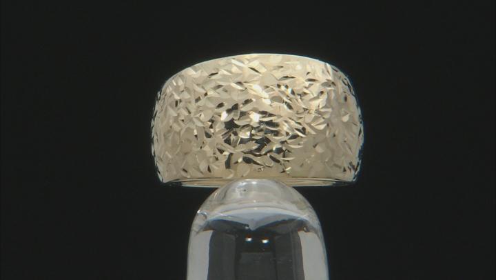 10k Yellow Gold Diamond Cut Ring