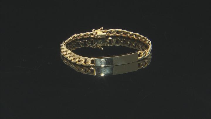10K Yellow Gold Curb Plate Bracelet