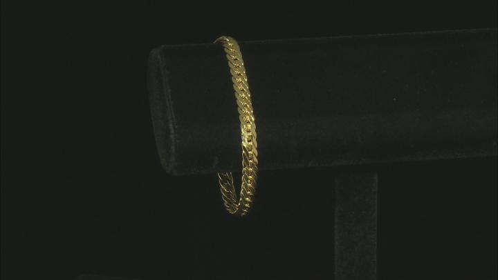 10K Yellow Gold Herringbone Bracelet