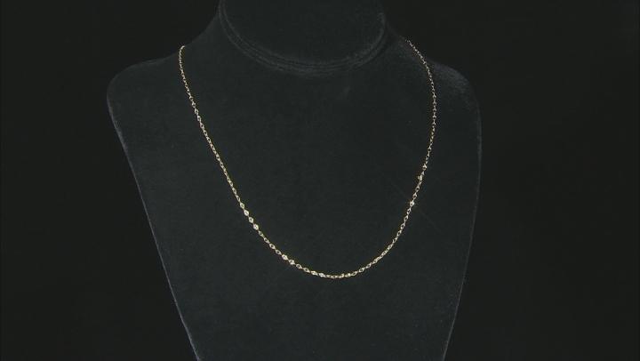"10K Yellow Gold Concave Anchor Mirror Necklace 20"""