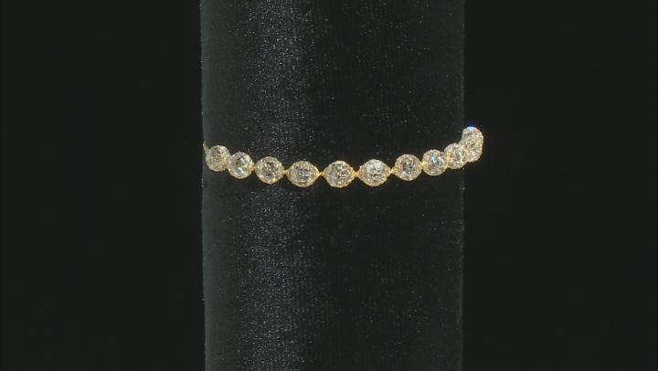 14K Yellow Gold Crochet Slider Bracelet With Bella Luce® White Diamond Simulant