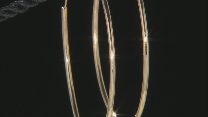 10K Yellow Gold 60MM Polished Endless Hoop Earrings