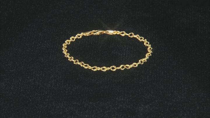 10k Yellow Gold Rolo Bracelet