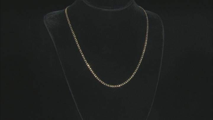 10K Yellow Gold Diamond Cut Curb Necklace