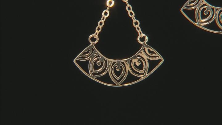 10K Yellow Gold Dangling Open Design Earrings