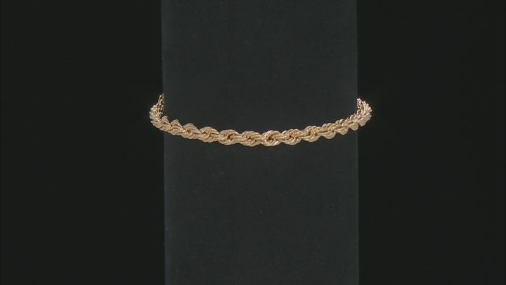 10k Yellow Gold Rope Bracelet
