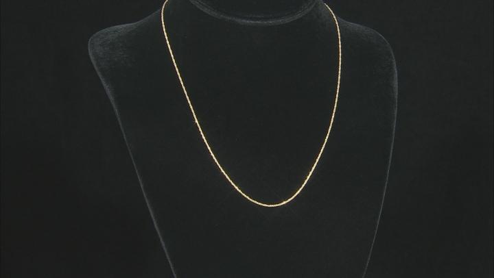 10K Yellow Gold 1.10MM Criss-Cross 18 Inch Chain