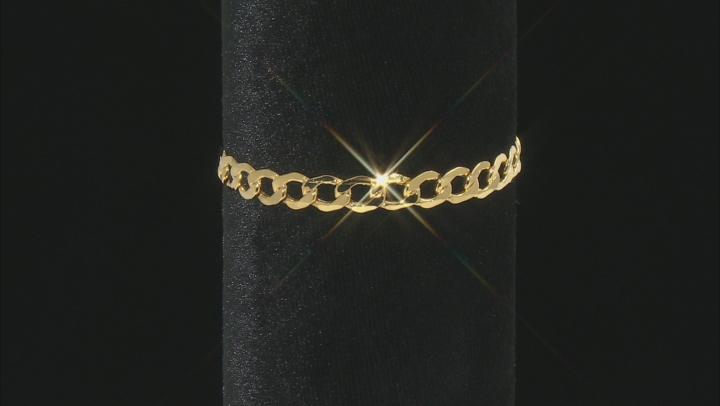 10K Yellow Gold 6.8MM Curb Bracelet