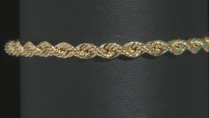 10K Yellow Gold 2.0MM Diamond Cut Rope Chain Bracelet