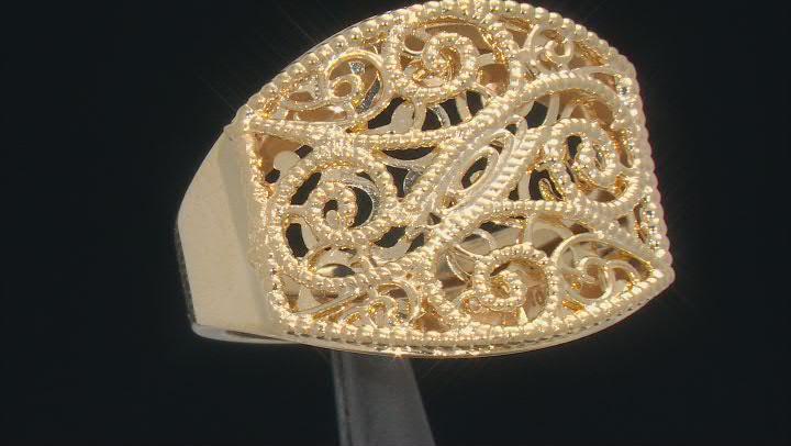 10KT Yellow Gold Filigree Ring