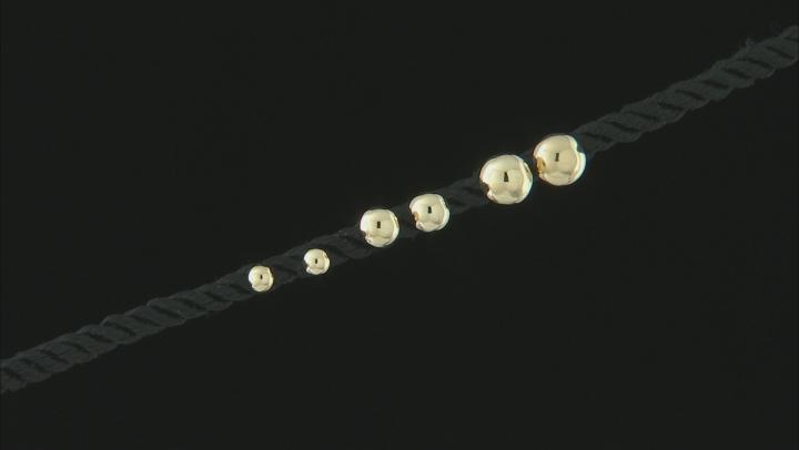 10K Yellow Gold High Polished Set of 3 Half-Stud Earrings