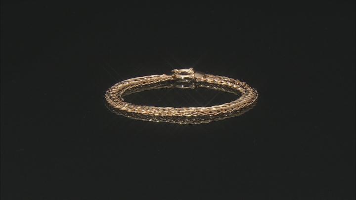 10K Yellow Gold Woven Link 8 Inch Bracelet