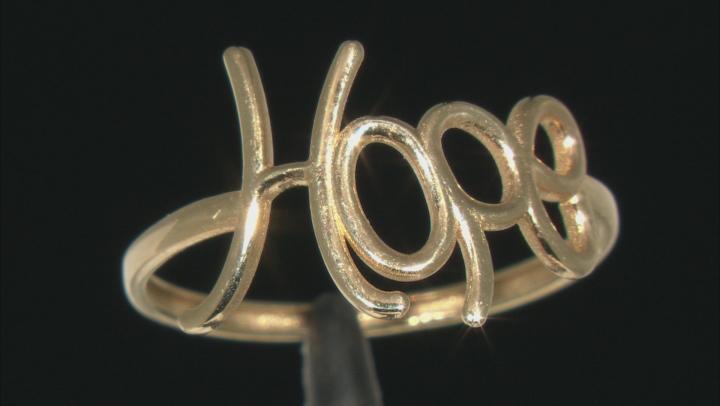 10k Yellow Gold Hope Ring