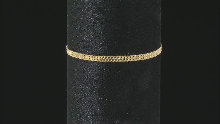 10K Yellow Gold 3.30MM Herringbone Link Bracelet