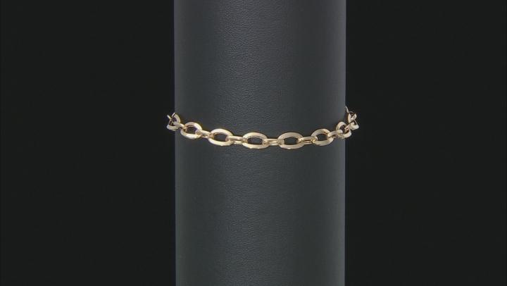 10K Yellow Gold High Polished Open Link Bolo Bracelet