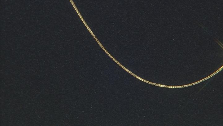 14K Yellow Gold Diamond Cut 18 Inch Box Chain Necklace