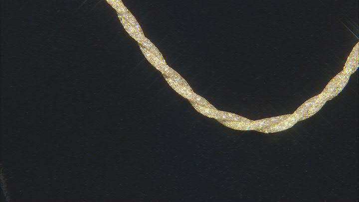 "10K Yellow Gold Bella Luce® White Cubic Zirconia 4.0MM Crochet D'Tuscano 18"" Necklace 44.50ctw"