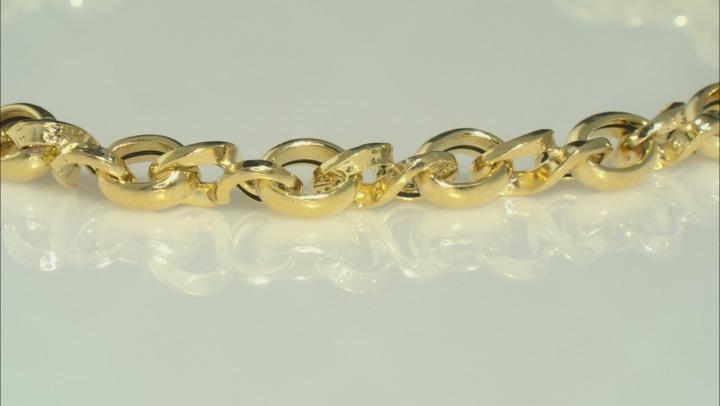10K Yellow Gold Loveknot Infinity Link 7.75 Inch Bracelet