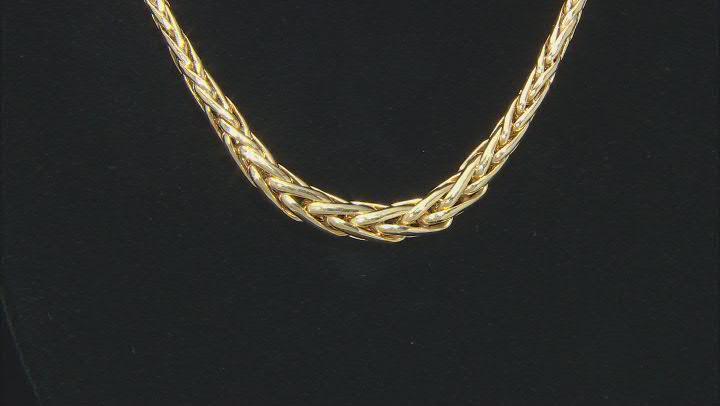 "10K Yellow Gold Graduated Spiga 17"" Necklace"