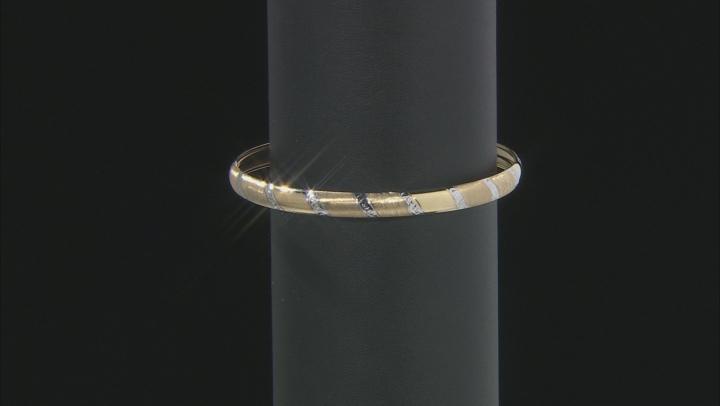 10K Yellow Gold Rhodium Accent 5.75MM 7.5