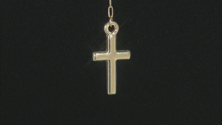 14K Tri-Tone Gold Polished and Diamond Cut Beaded Rosary 22
